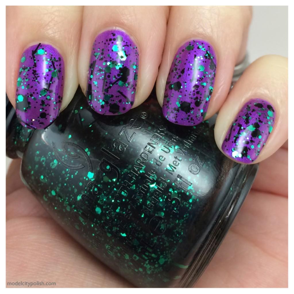 Avon Vivid Violet and China Glaze Grafitti Glitter