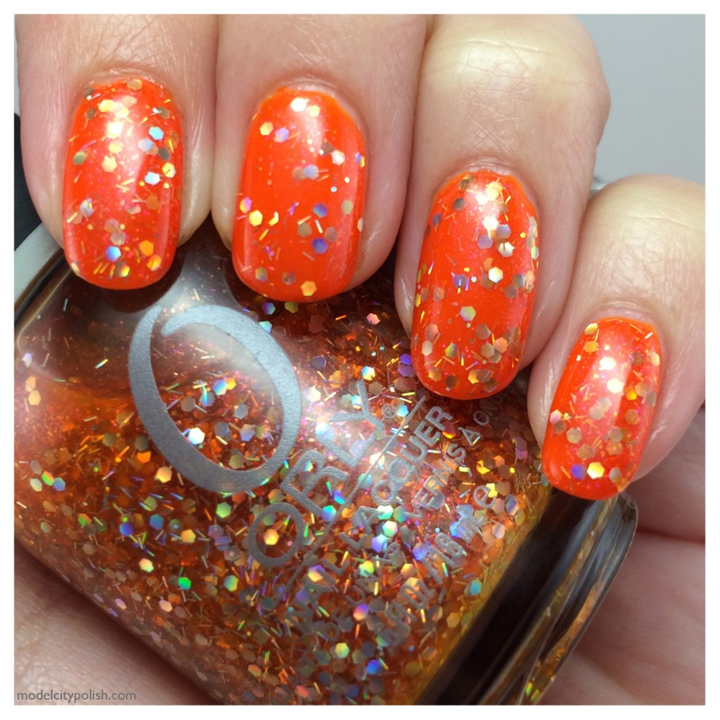 Kleancolor Neon Orange and Orly Right Amount Of Evil