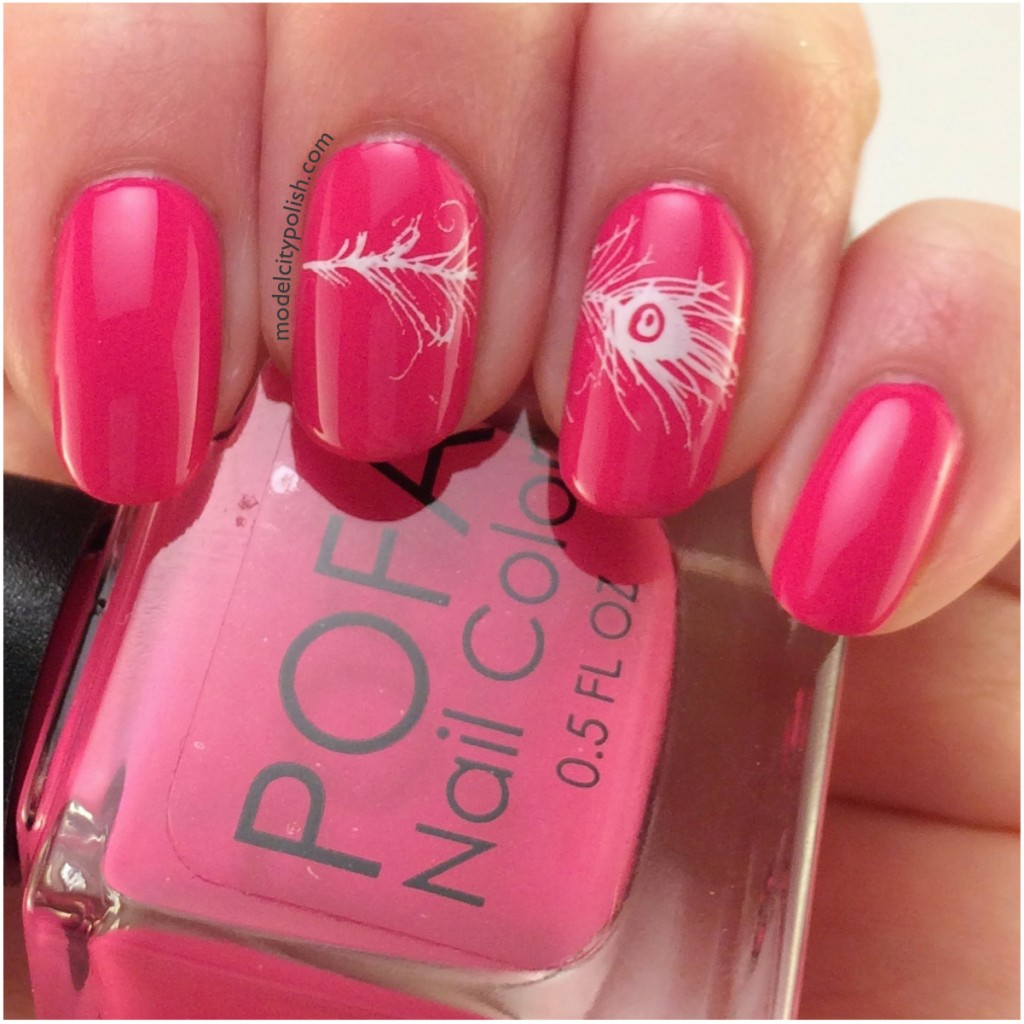Accent Stamp Nails – #31DC2014 Day 15 Delicate Nails