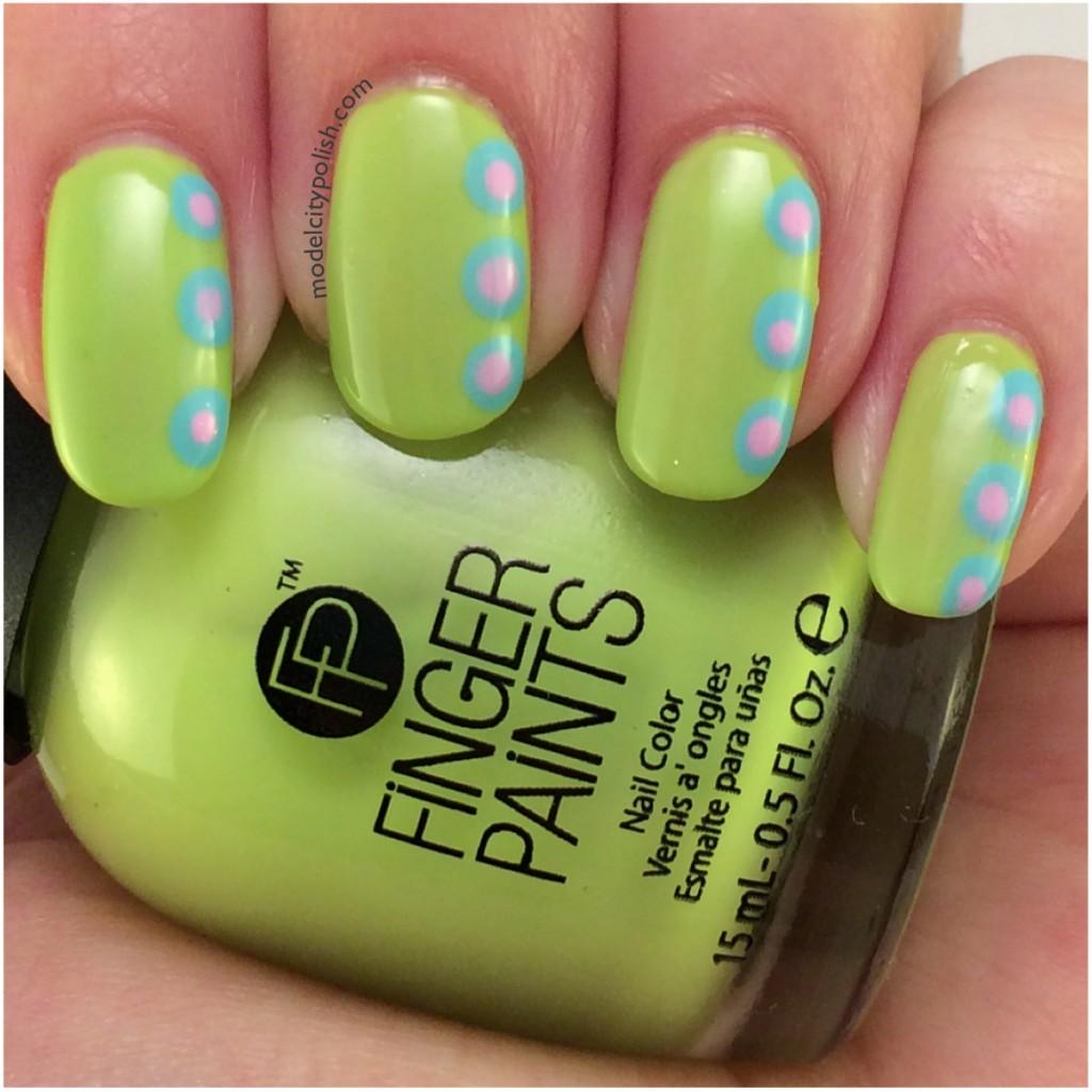 Finger Paints Accent Dotticure – #31DC2014 Day 4 Green