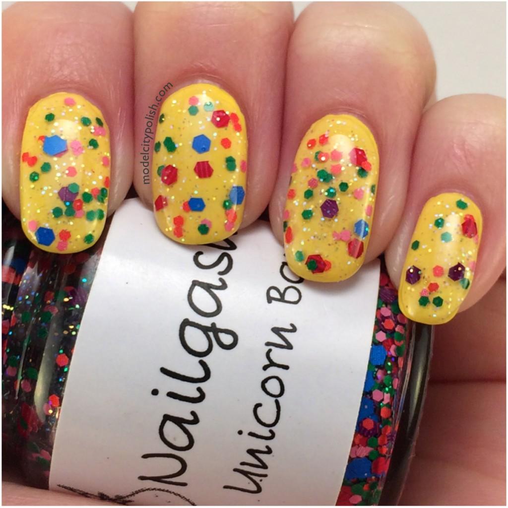 Shiny Happy Nails – #31DC2014 Day 3 Yellow