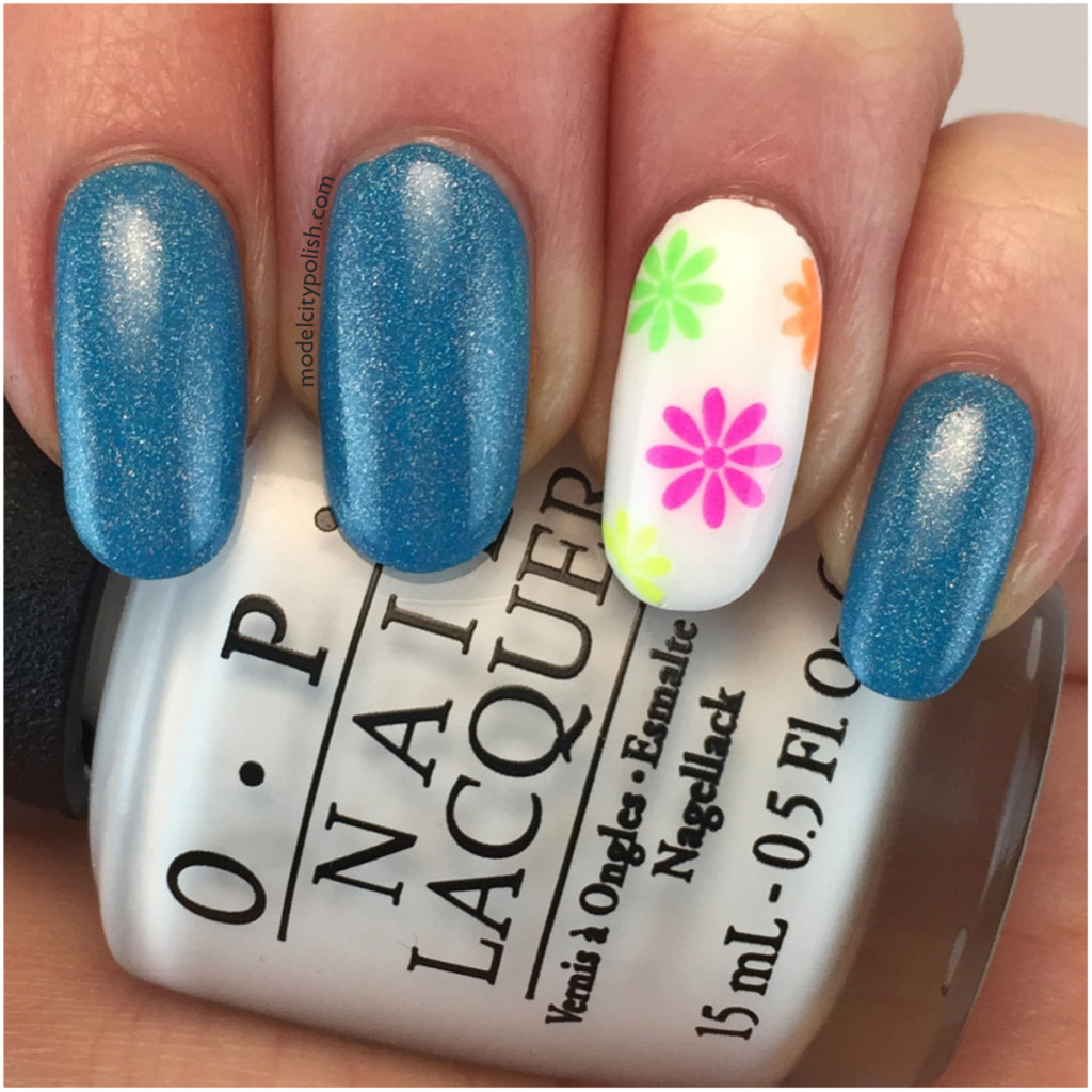Colorful Flower Water Decals from Born Pretty Store