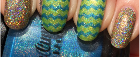 Chevron and Glitter 1