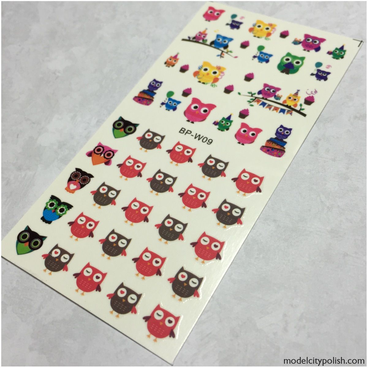 Cartoon Owl Decals 1