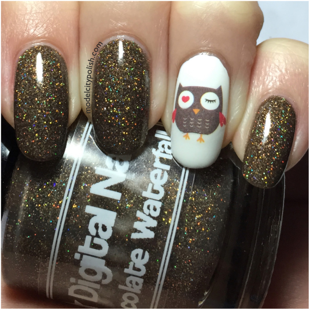 Cartoon Owl Water Slide Decals by Born Pretty Store