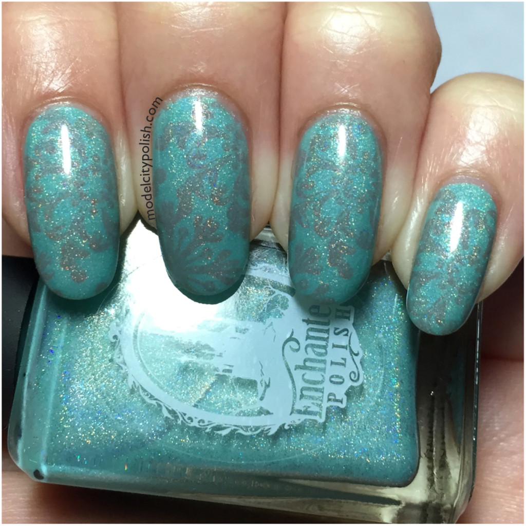 Accent Stamping with Flake No More by Pet'la Plates