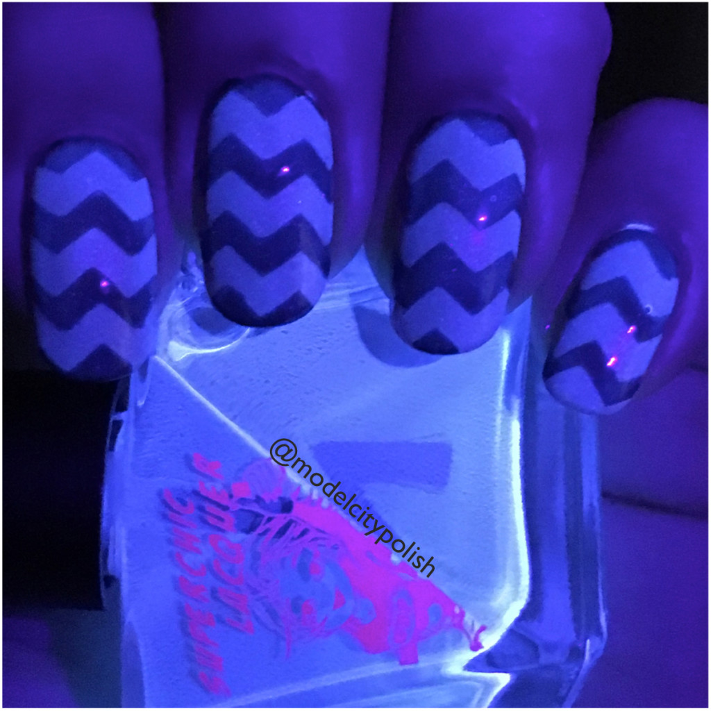 Halloween Chevrons with SuperChic Lacquer