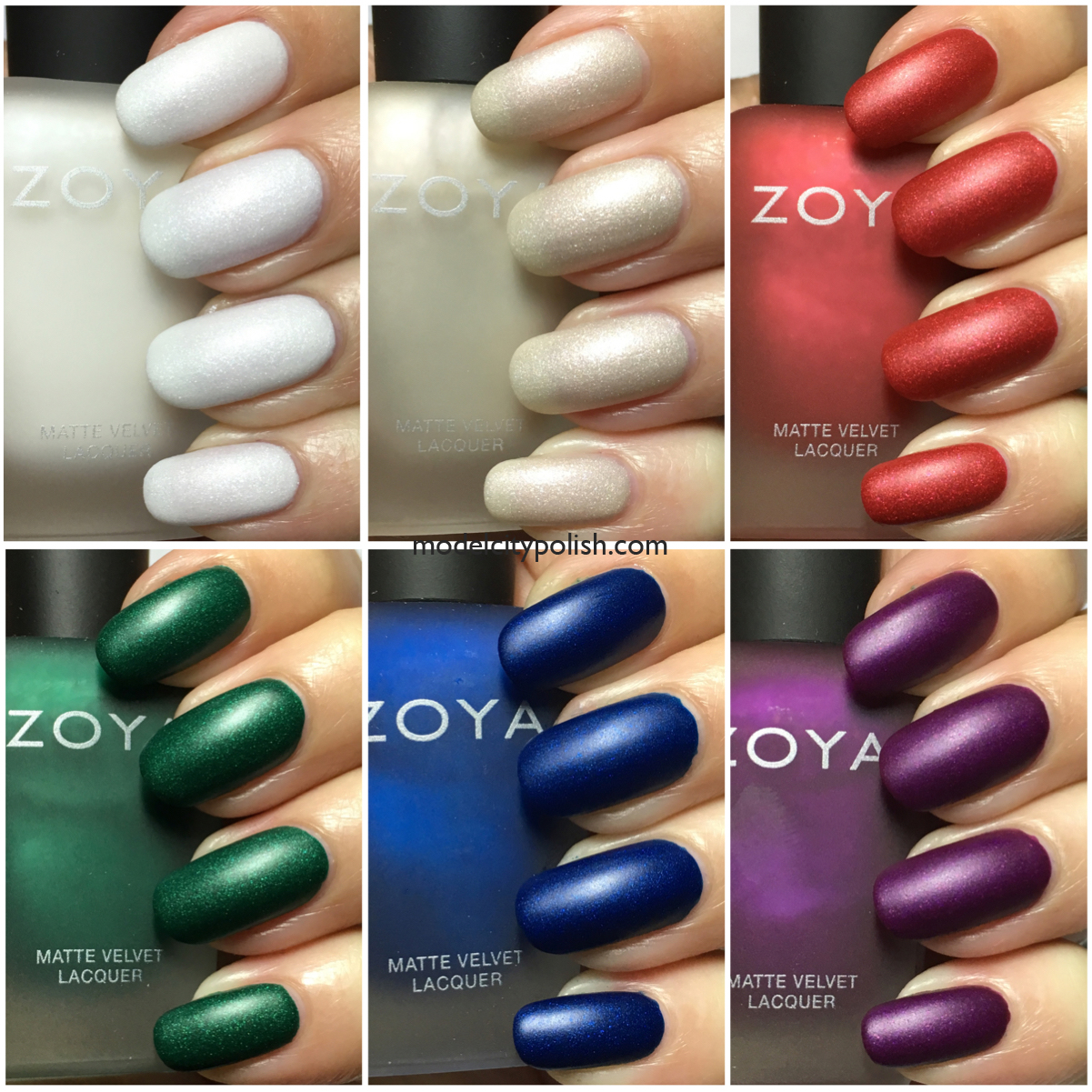 Matte Velvet Winter Holiday 2015 By Zoya Nail Polish