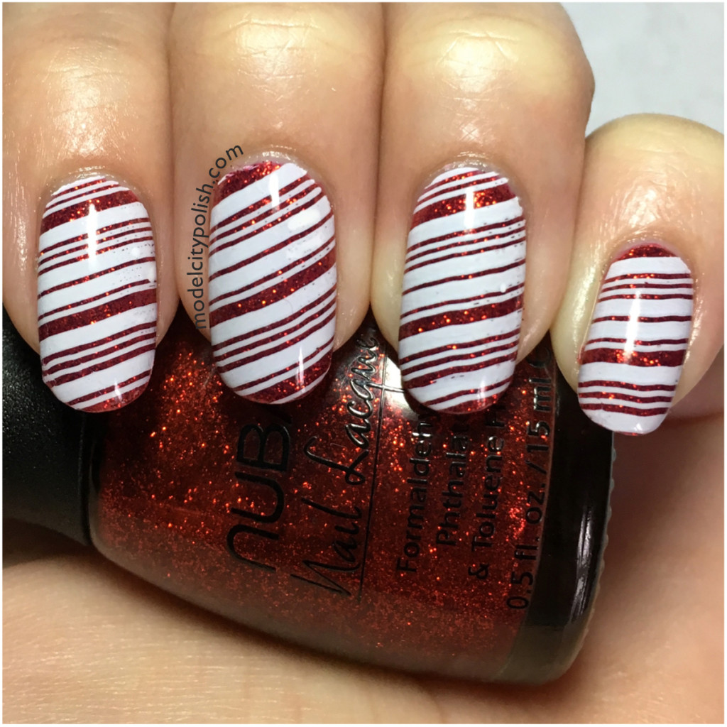 Candy Cane – Challenge Your Nail Art