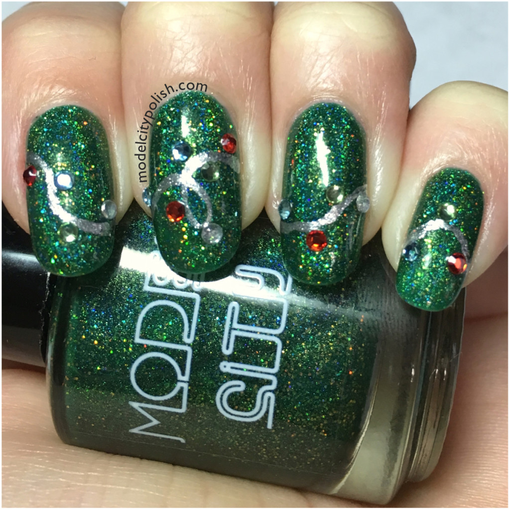 Christmas Lights – Challenge Your Nail Art