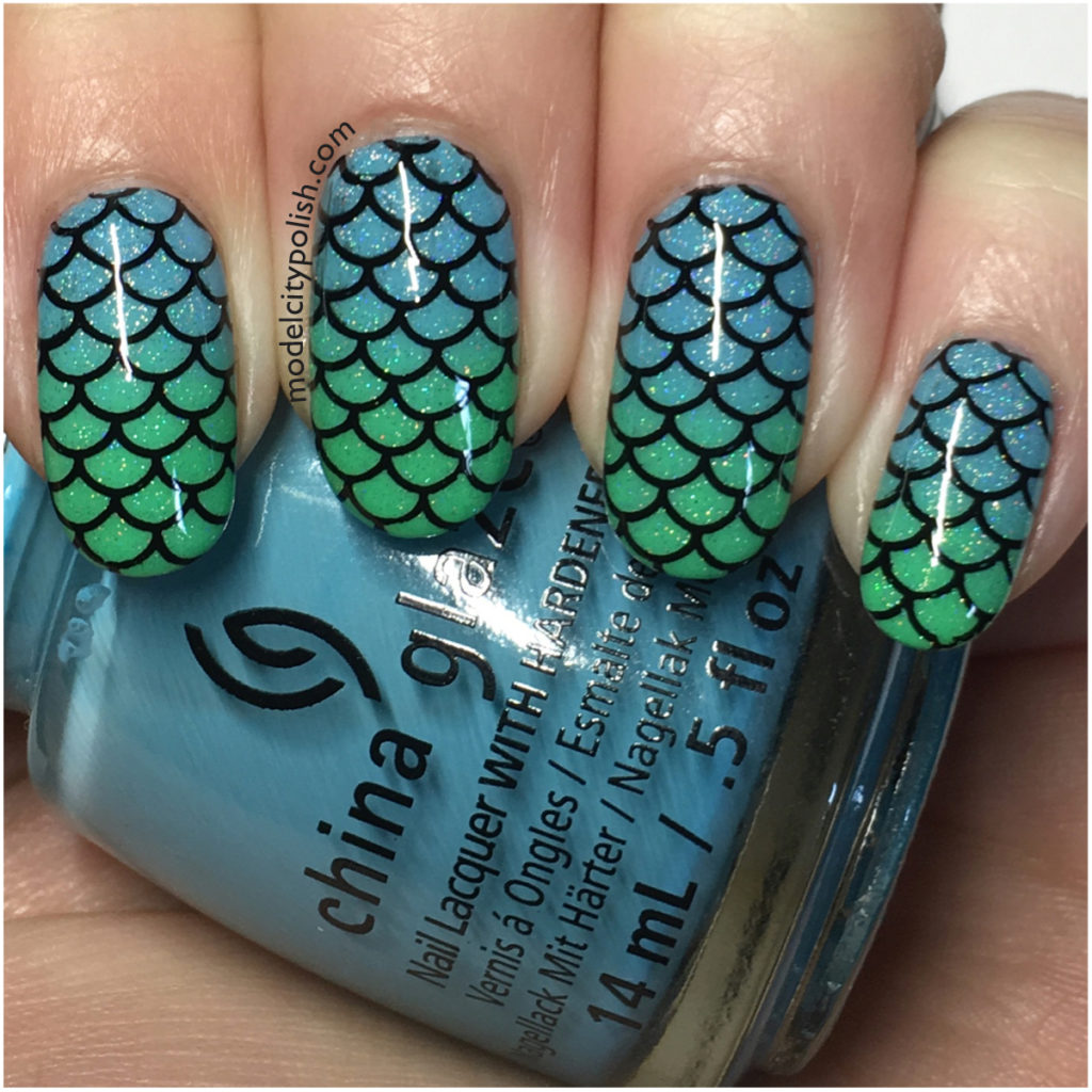 Mermaid with China Glaze