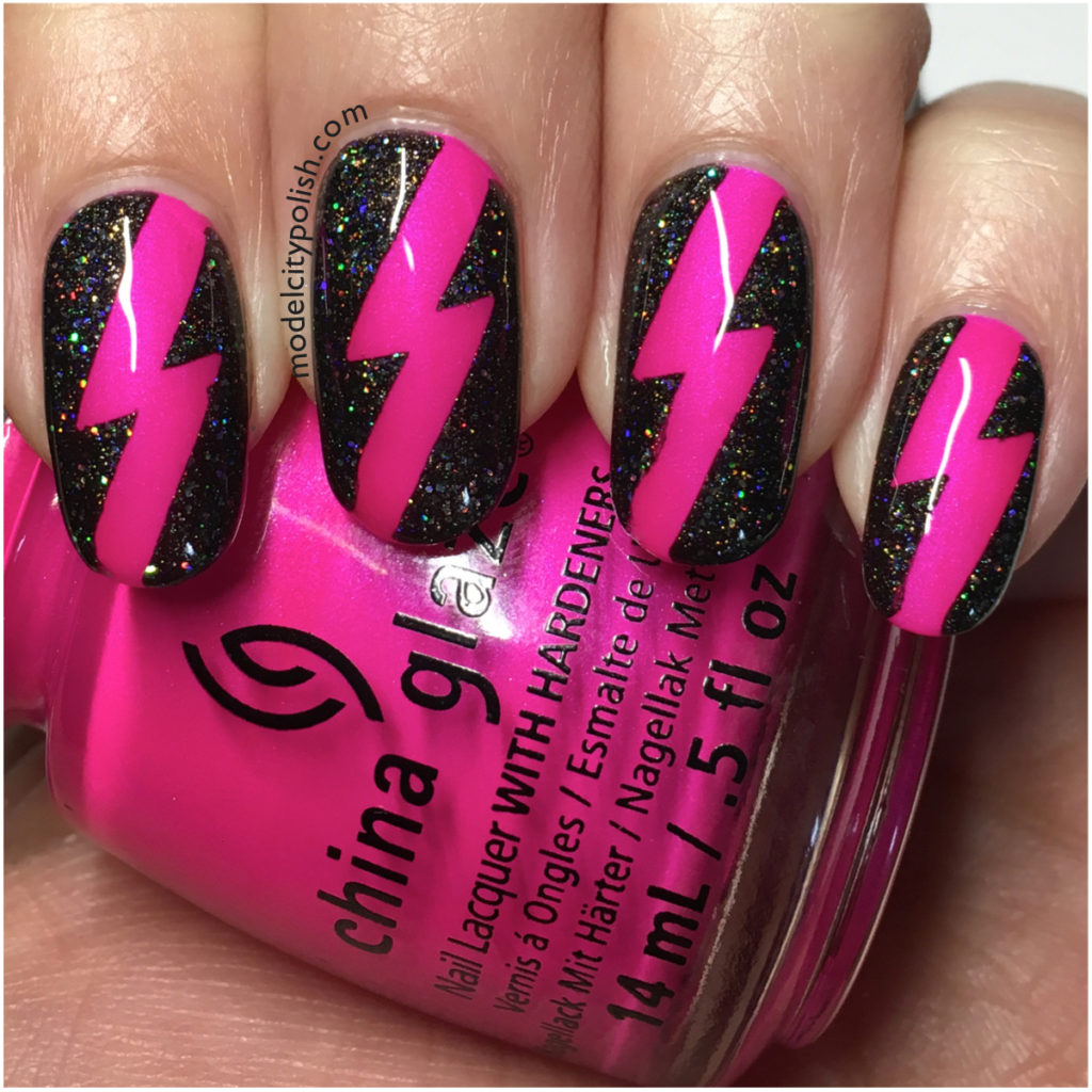 Lightning Bolts with China Glaze & Model City Polish