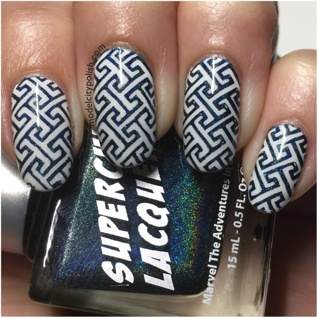 Blue Maze with SuperChic Lacquer