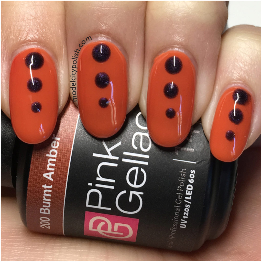 Halloween Dots with Pink Gellac