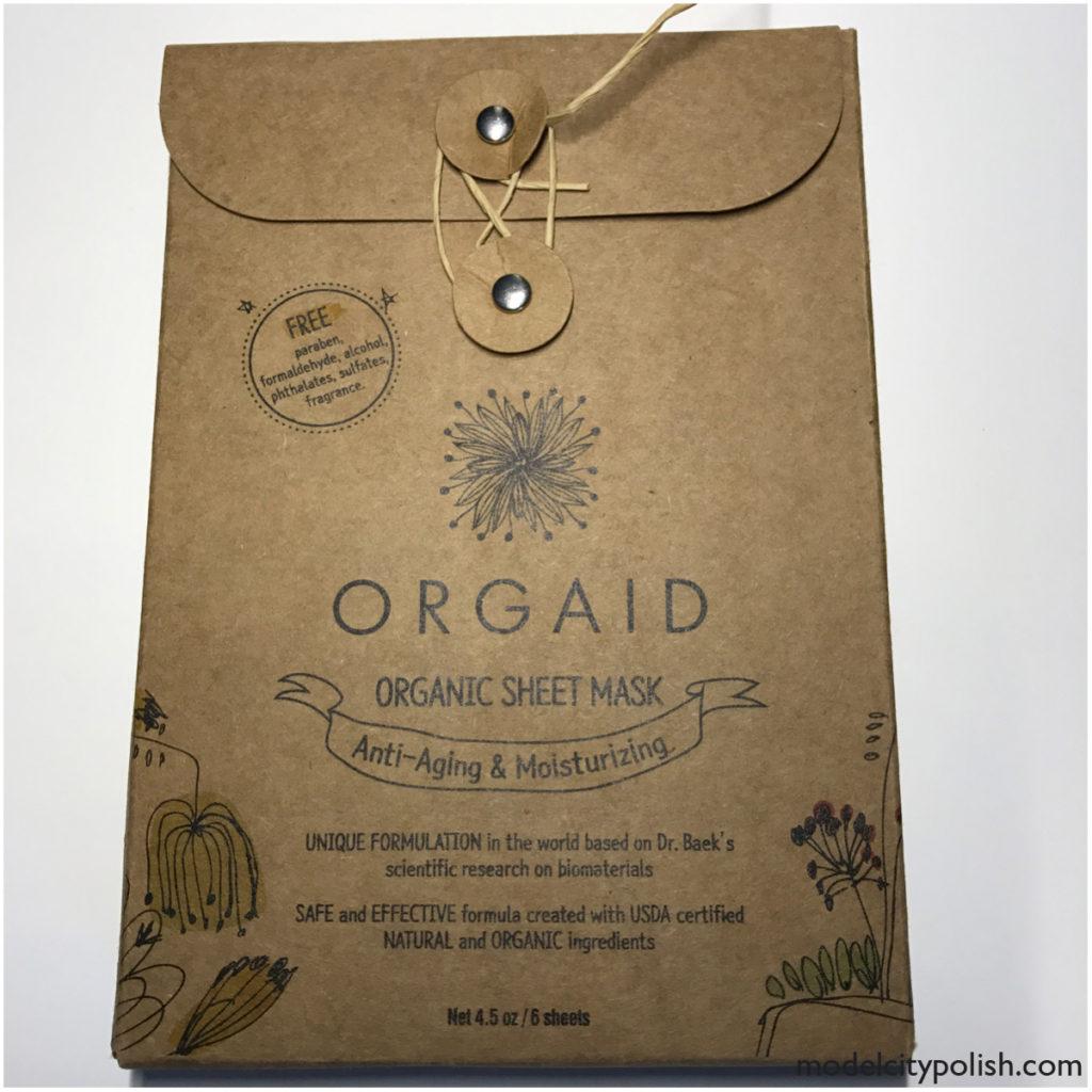 Organic Sheet Masks by Orgaid