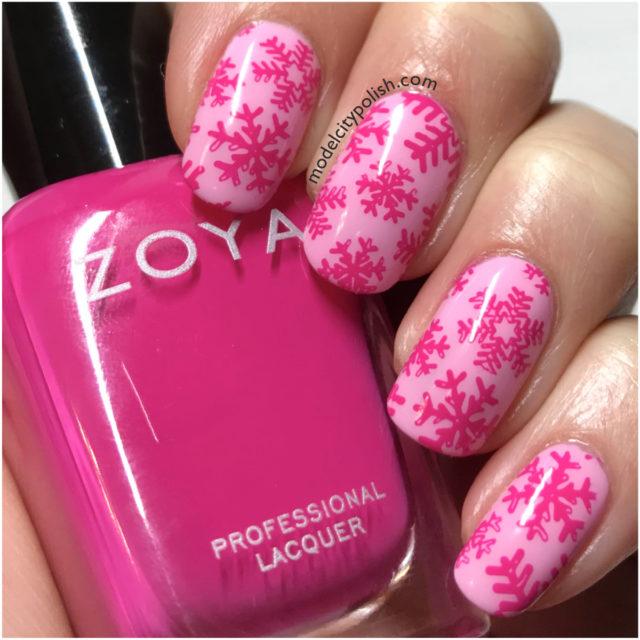 Pink Snowflake 4
