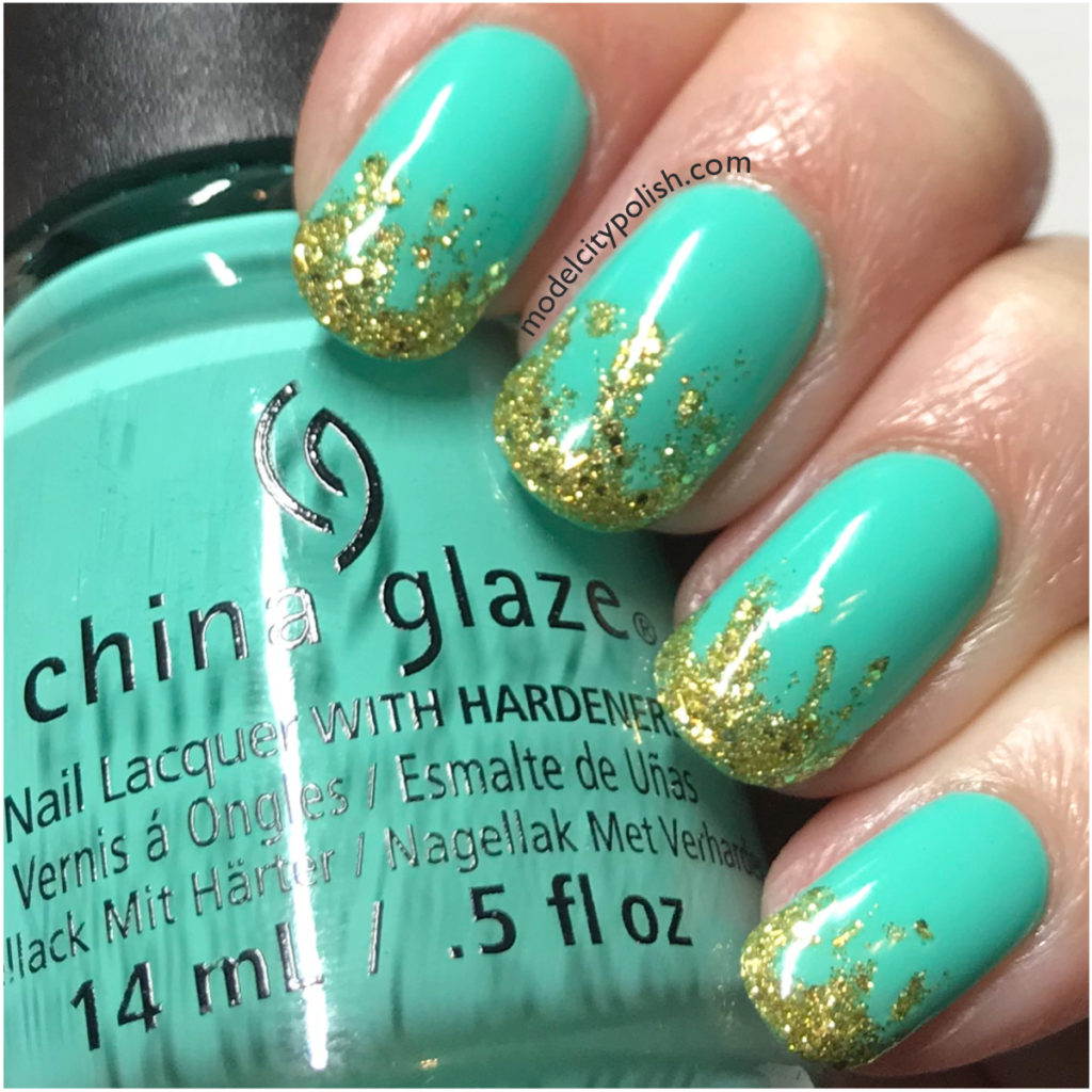 Gold Gradient with China Glaze