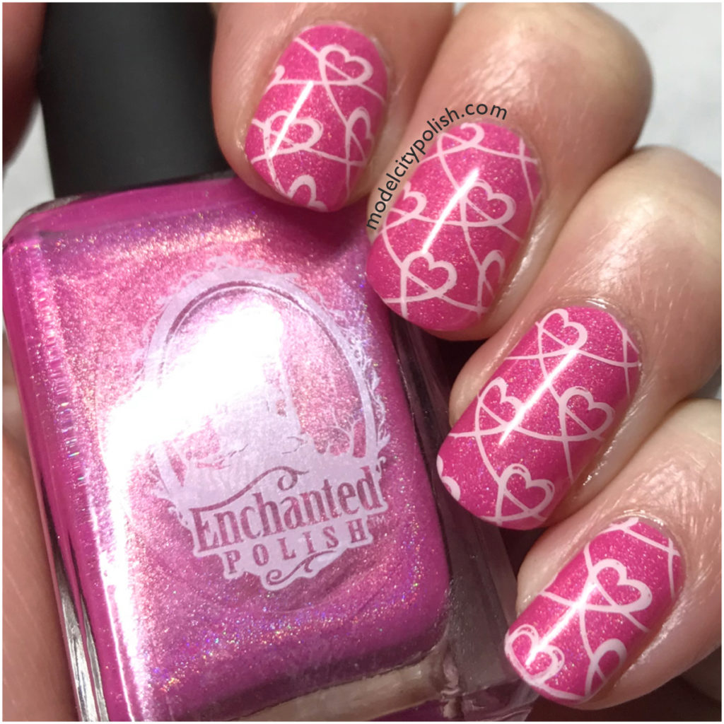 Hearts with Enchanted Polish and Born Pretty Store
