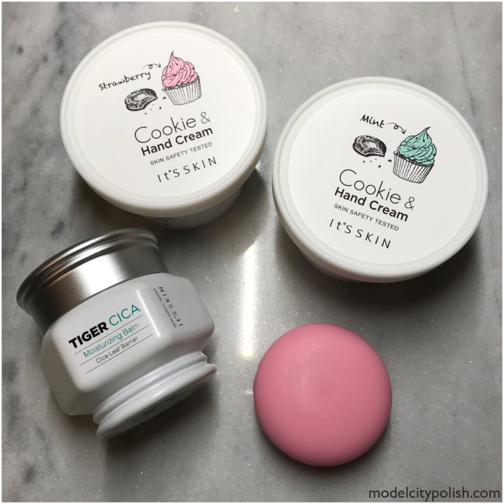 Cookie & Hand Cream, Macaron Lip Balm, and Tiger Cica Moisturizing Balm by It's Skin
