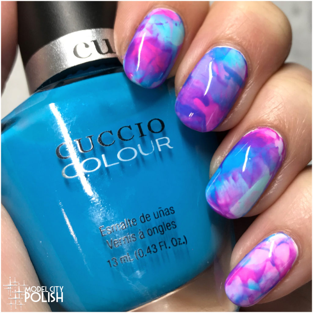 Neon Stamping Marble with Cuccio Colour