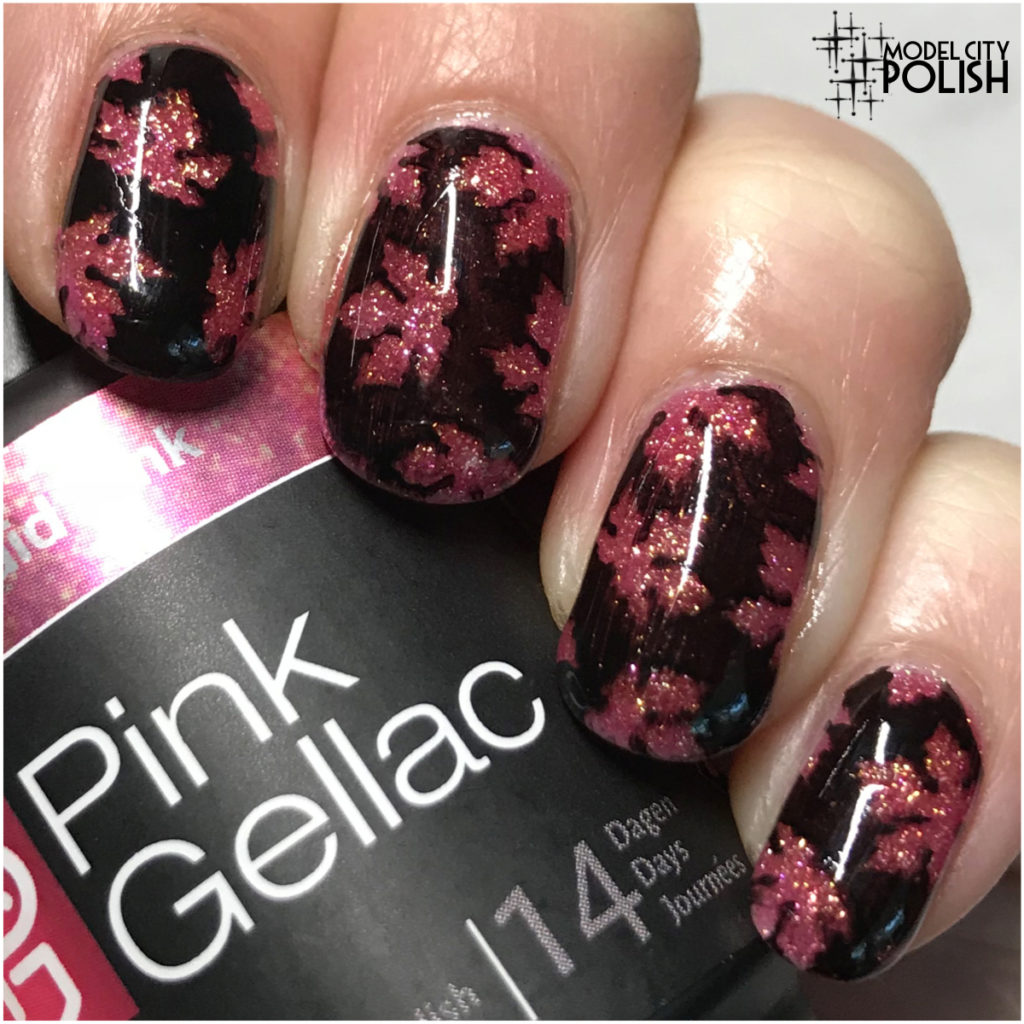 Fall Leaves with Pink Gellac