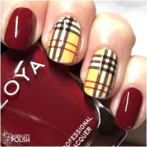 Plaid Nails for Fall with Zoya and KBShimmer