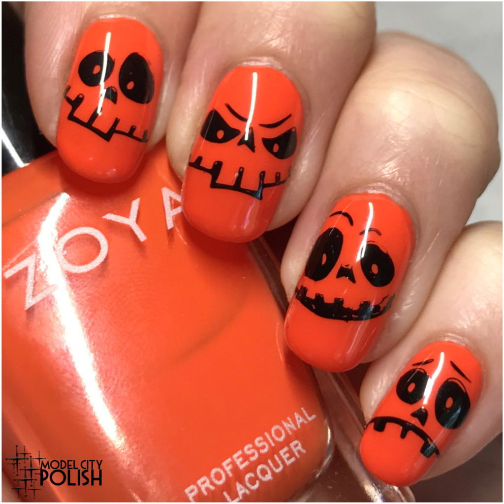 Pumpkin Faces with Zoya and Marianne Nails