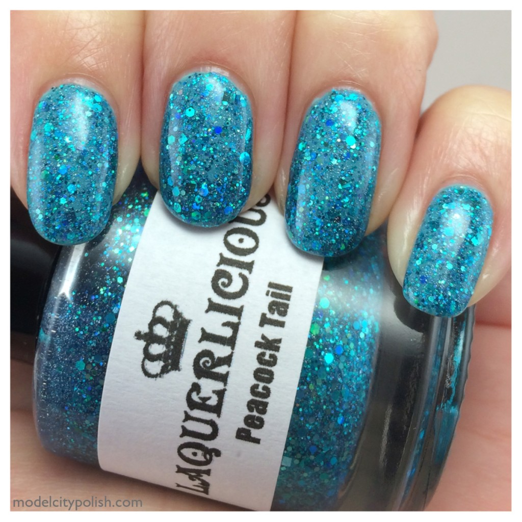 China Glaze For Audrey and Laquerlicious Peacock Tail