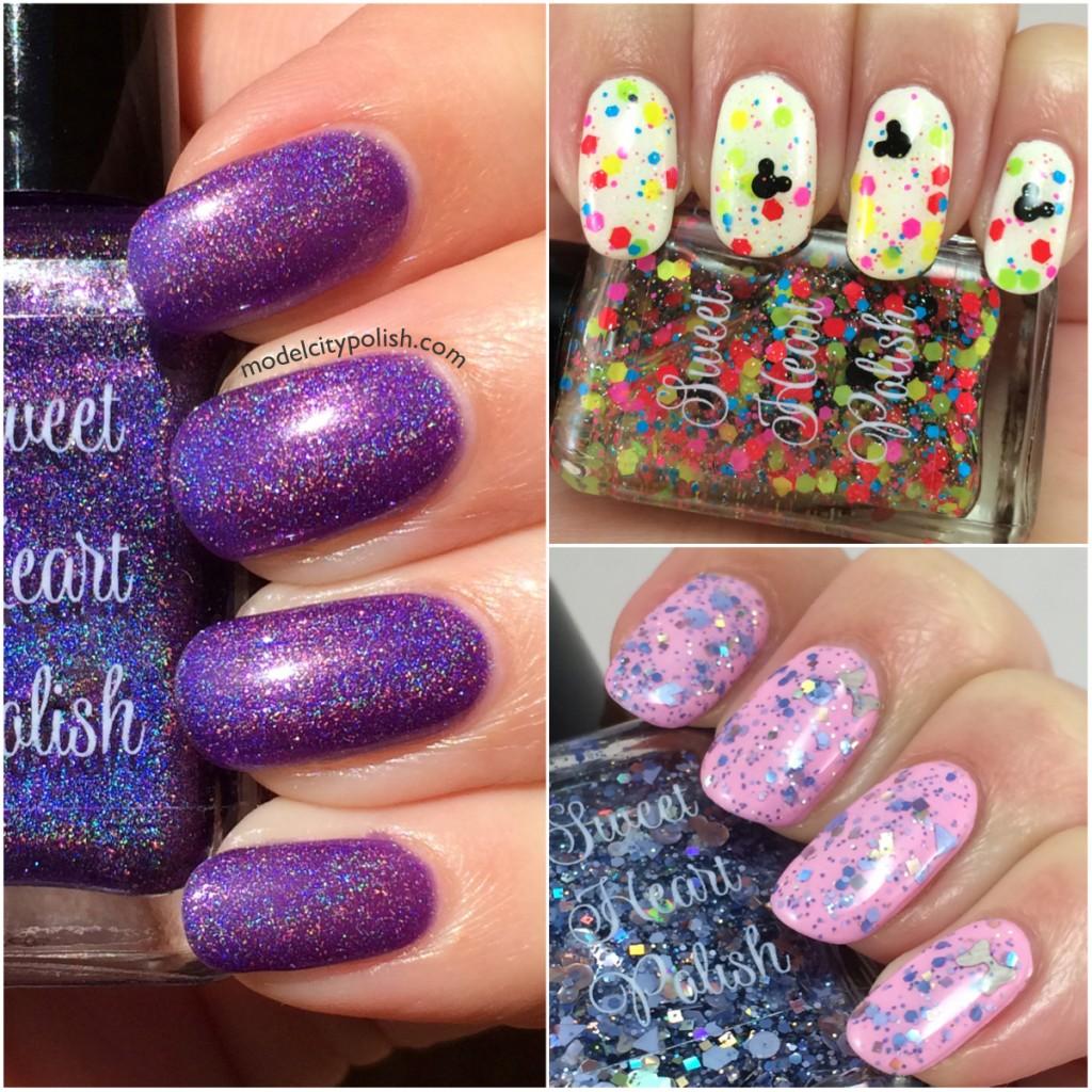 Sweet Heart Polish Disneyland or Bust, Blue Chandel-Ear, & Dahlia