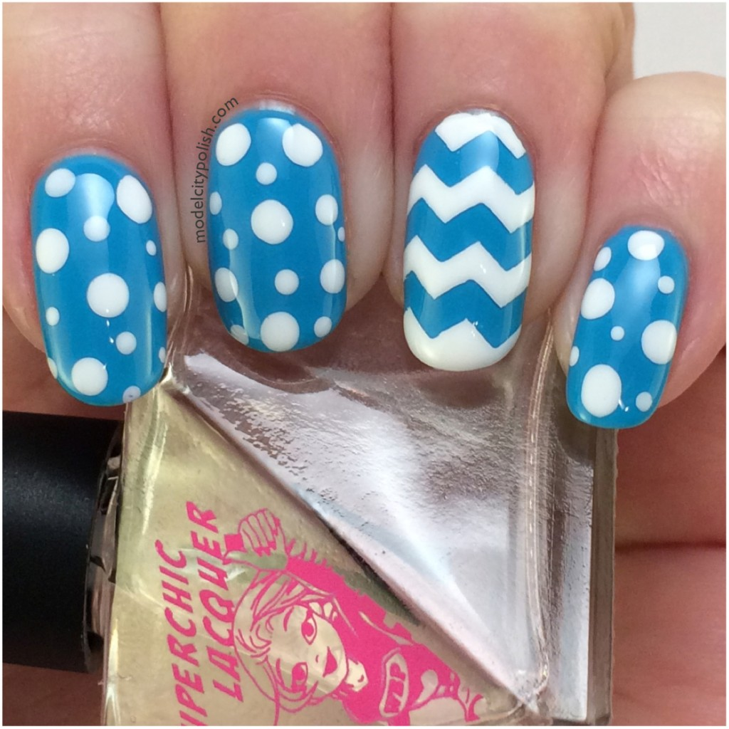 Dots and Chevrons – #31DC2014 Day 5 Blue