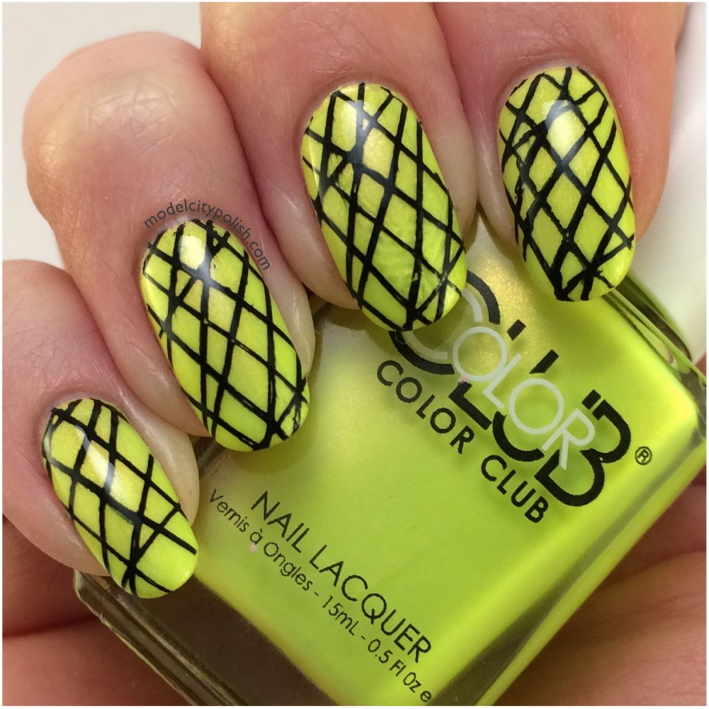 Color Club Not So Mellow Yellow – #3DC2014 Day 16 Geometric Nails