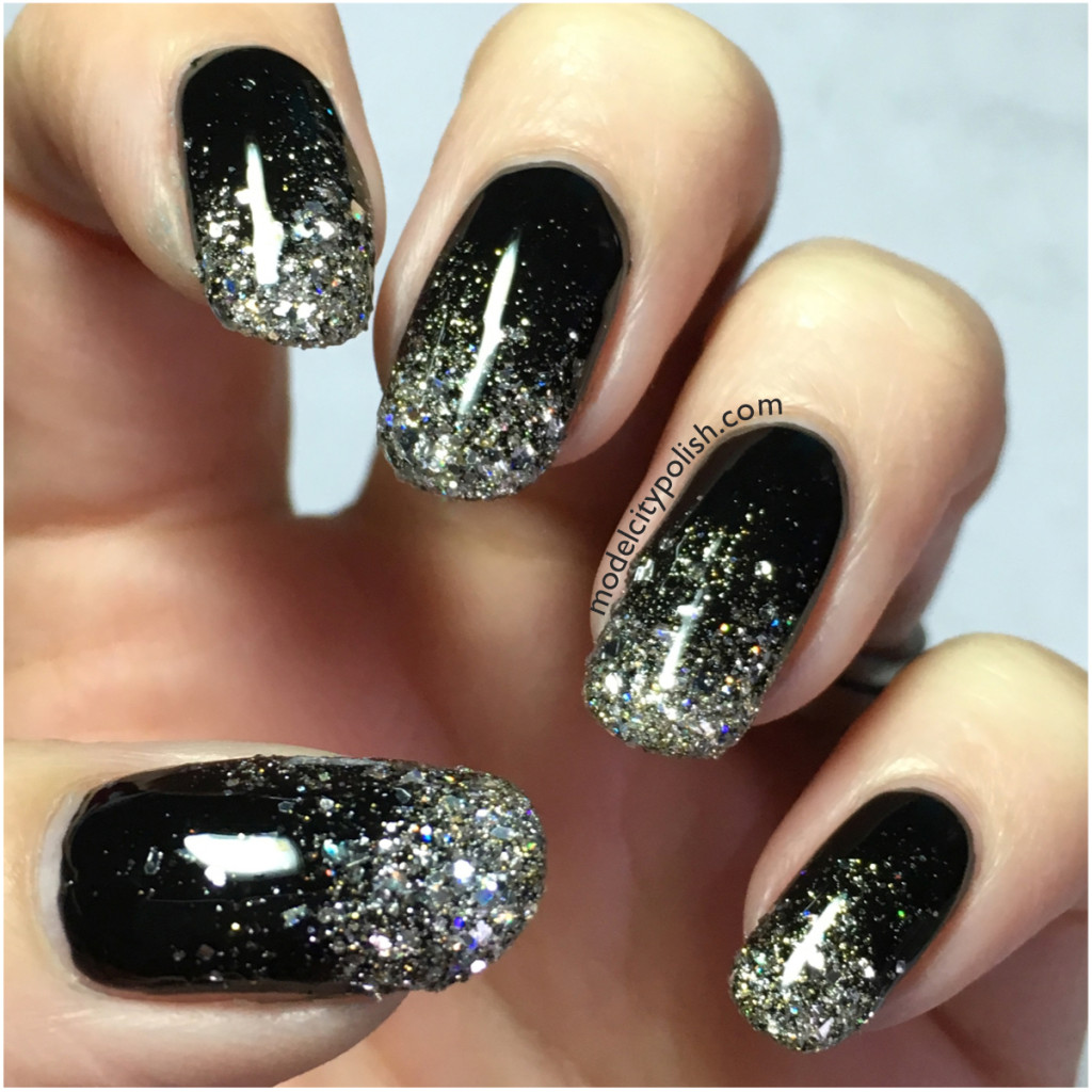 Silver and Gold Glitter – Challenge Your Nail Art