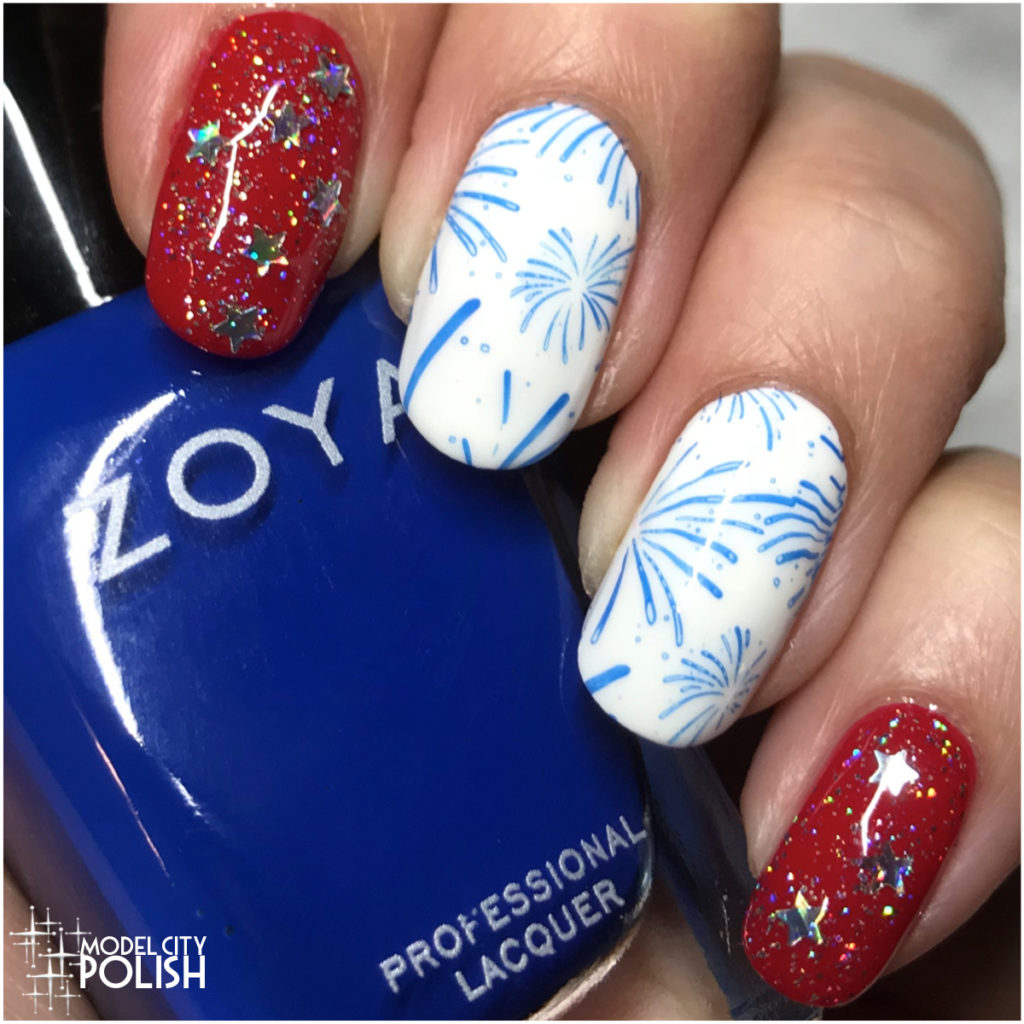 Happy 4th with OPI, Zoya, and Pet'la Plates