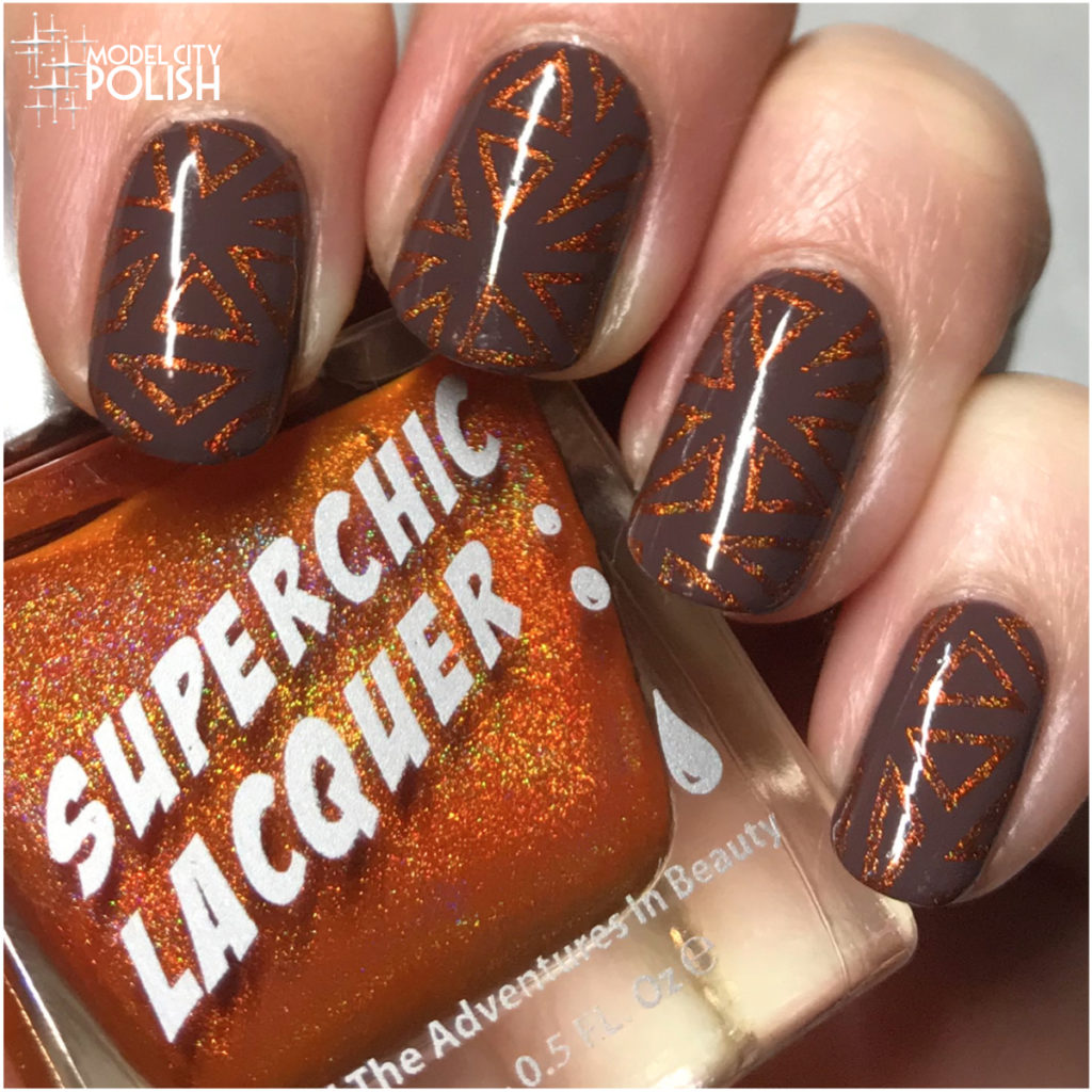 Fall Abstract with Julie G, SuperChic Lacquer, and Pet'la Plates
